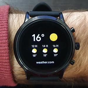 Fossil Smartwatch Gen 5 weather